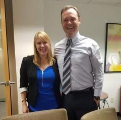 Dr. Tanya Kelley with advisor Dr. Erik Johnston